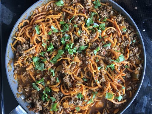 Beef and Sweet Potato Noodles